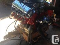 427 BBC Engine, 4 Bolt Main. Zero Hours on Rebuild.