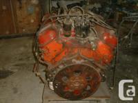 454 Chev Engine out of a 73 GMC 3/4 ton pickup. Engine