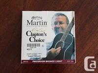 Martin & Co. Clapton's Choice Acoustic Guitar Strings.