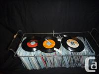 Over 200 45rpm records provide as well as make on the