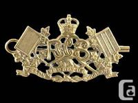 ROYAL CANADIAN CORPS OF SIGNALS: BRASS COLLAR DOG: 1921