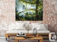 Large Pacific Northwest stretched canvas print. I