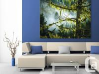 Large Pacific Northwest stretched canvas print. Hi