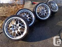 *** FOR SALE ***   FOUR AUTHENTIC 19 INCH BBS RS-GT
