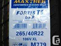 4x 265/40R22 106V XL PNEUS D' ETE MAXTREK FORTIS T5