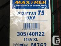 4x 305/40R22 114V XL PNEUS D' ETE MAXTREK FORTIS T5
