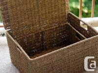 These stylish boxes are made of natural paper rope on a