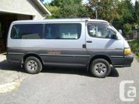 91 Hiace Super Custom diesel 4x4 full load, pwr