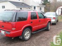 Make. Chevrolet. Model. Blazer. Year. 2000. Colour.