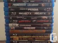 Blu-Ray movies for sale. $5.00 Each blu-ray movies.....