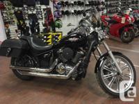 Locking saddlebags, detachable windshield, V&H exhaust,