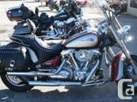 Air intake, Custom pipes, Windshield, Bags, Driver
