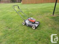 great lawn mower has been serviced, tuned, and blade