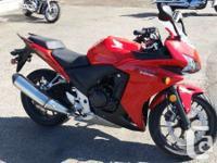 2013 Honda CBR50RThe CBR500R is a true Honda mid-size