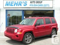 NEW ARRIVAL! 1-OWNER! This Red 2008 Jeep Patriot North