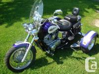 Unique Honda VT1100 w/ MotoKit WheelsIf you prefer