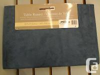 Table Runner 100% Polyester Look like Nubuck Color is