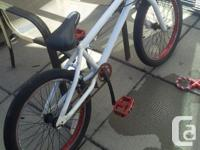 5 BMX for sale, white with red wheels, 100$, Black and