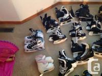 I have 8 pairs of youth/junior hockey skates in