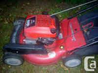 Lawn mower can be used as a mulching or a rear bagging