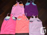 5 Ivviva(kids lululemon) Double Dutch tanks size 10 in