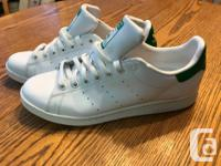 White and blue superstar. Mint 10.5 Green and white
