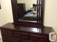 2 Night tables, Armoire, Dresser with mirror, Headboard