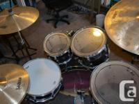 5 piece Pearl Vision Artisan Drum kit. Birch. Includes