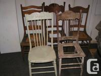 These 5 chairs are all different and in various states