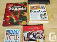 5 Books-IdiotsBaseball, Our Nation Canada, Kovels