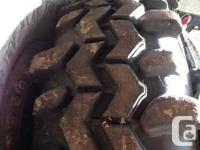 There are 4 tires placed on chev 8 bolt beadlocks with