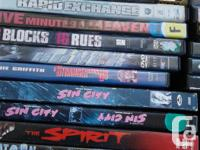 .50 Cents ea.Various action DVD's previously viewed in