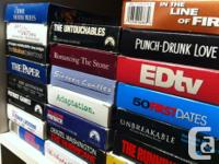 +/- 500 VHS tapes. Some boxed sets. Action, drama,