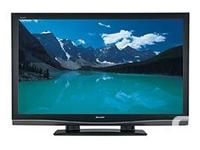 "Sharp Aquos 52"" LCD TV with original remote in"