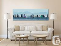 "Large 52""x16"" Breathtaking panoramic fine art canvas"
