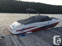 24' Bowrider rider for sale c/w boat trailer. 5.0L