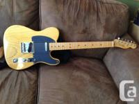 '52 Butterscotch Telecaster reissue with Esquire neck