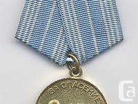 100% Authentic SOVIET Medal for Saving Life From