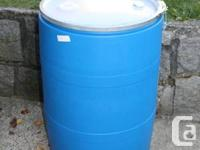For Sale: 55 gallon Plastic barrels used for Meals