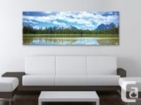 Beautiful fine art canvas print depicting a crystal