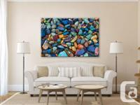 Beautiful fine art canvas print depicting a colourful
