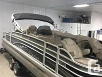 2013 Premier 231 Cast-a-way Pontoon Boat *Only 37 HOURS