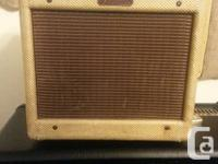 Yes a real 1956 Fender Tweed Champ amp for customer.