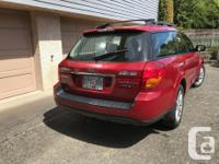 Make Subaru Model Outback Year 2005 Colour Red kms