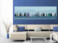 "Large 58""x24"" Breathtaking panoramic fine art canvas"