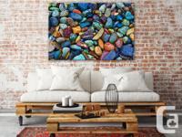 Beautiful fine art canvas print depicting a colourful