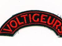 Canada WWII: Les Voltigeurs de Québec SHOULDER TITLE-