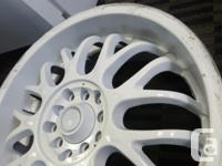 17x7 Kosei Rims painted white +38 offset 4 rims - the