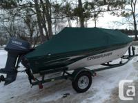 2002 Crestliner sixteen Angler side console. All new
