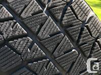 195/65R15 Bridgestone Blizzak winter tires. Tires have